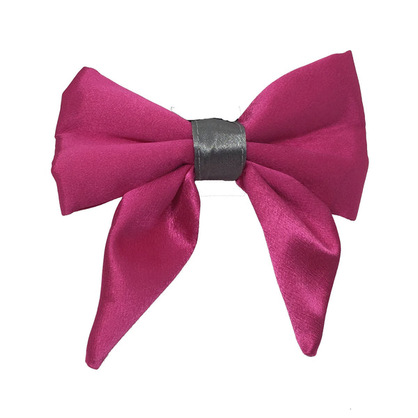 Pink and silver Sailor Bow