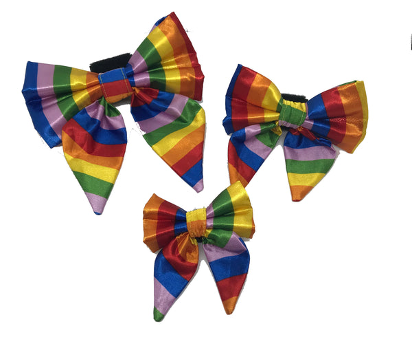 Satin Rainbow Girlie Bow