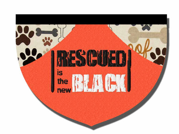 Rescued is the New Black bandana