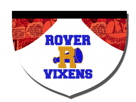 """Rover Vixens"" Riverdale-inspired reversible embroidered bandana"
