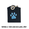 Paw print tag bag protector and silencer