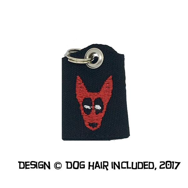 Deadpool-inspired tag bag protector and silencer
