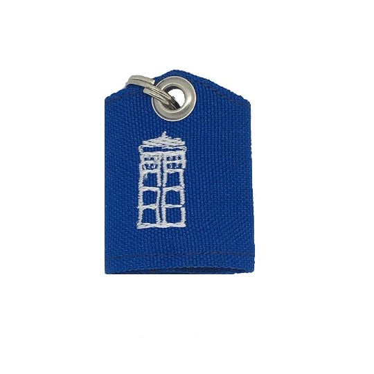 Tardis Doctor Who-inspired tag bag protector and silencer
