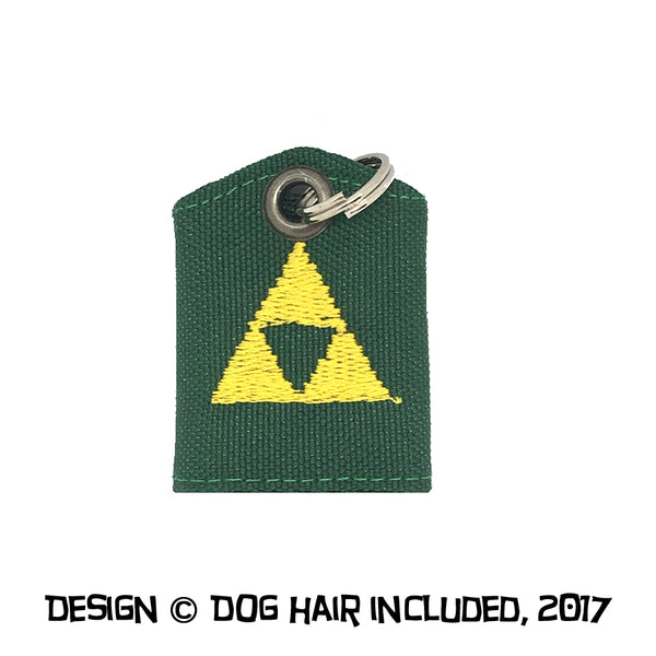 Triforce Legend of Zelda-inspired tag bag protector and silencer