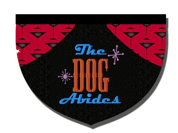"""The Dog Abides,"" The Big Lebowski-inspired reversible embroidered bandana"