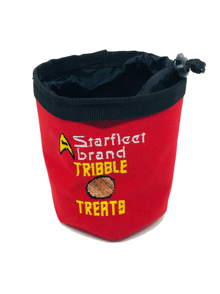 Tribble Treats treat pouch and water bowl