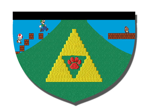 Zelda Triforce-inspired reversible bandana