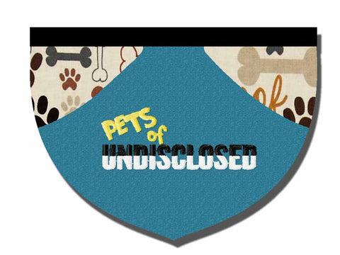 Pets of Undisclosed fundraiser bandana