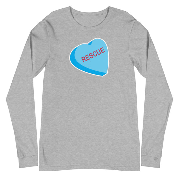 Rescue Conversation Heart Unisex Long Sleeve Tee
