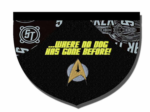 Where No Dog Has Gone Before... reversible bandana