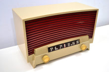 Load image into Gallery viewer, SOLD! - Jan. 19, 2020 - Beige and Brick Vintage 1955 Westinghouse Model H-536T6 AM Tube Radio Works Great! - [product_type} - Westinghouse - Retro Radio Farm