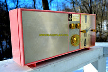 Load image into Gallery viewer, SOLD! - Jan 9, 2018 - PETAL PINK Mid Century Vintage Retro 1962 Emerson Lifetimer II Model G1705 Tube AM Clock Radio - [product_type} - Emerson - Retro Radio Farm