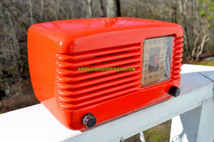 BLUETOOTH MP3 Ready - PERSIMMON Vintage Deco Retro 1946 Philco Transitone 46-200 AM Bakelite Tube Radio Excellent Working Condition! - [product_type} - Philco - Retro Radio Farm