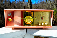 Load image into Gallery viewer, SOLD! - Mar 18, 2018 - MARILYN PINK Mid Century Vintage Retro 1956 Motorola 56CD Tube AM Clock Radio Real Looker! - [product_type} - Motorola - Retro Radio Farm