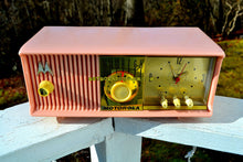 Load image into Gallery viewer, SOLD! - Mar 18, 2018 - MARILYN PINK Mid Century Vintage Retro 1956 Motorola 56CD Tube AM Clock Radio Real Looker!