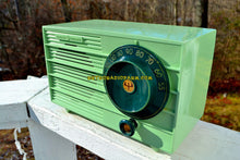 Load image into Gallery viewer, Pistachio Green Retro Vintage 1957 General Electric 457S AM Tube Radio Unique Color Combo! - [product_type} - General Electric - Retro Radio Farm
