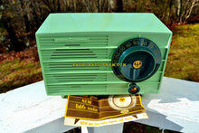 Load image into Gallery viewer, SOLD! - Oct 25, 2018 - Pistachio Green Retro Vintage 1957 General Electric 457S AM Tube Radio Unique Color Combo! - [product_type} - General Electric - Retro Radio Farm