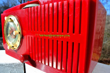 Load image into Gallery viewer, SOLD! - Feb 6, 2018 - CHERRY RED Golden Age Art Deco 1952 General Electric Model 517F AM Tube Clock Radio Sounds Amazing! - [product_type} - General Electric - Retro Radio Farm
