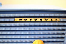Load image into Gallery viewer, SOLD! - Mar 31, 2019 - Sweet Baby Blue Bi-level 1957 Motorola 57CD Tube AM Clock Radio