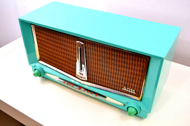 Thunderbird Turquoise 1959 Arvin Model 956T Rare Vintage Tube AM Radio