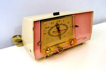 Load image into Gallery viewer, SOLD! - Jan 31, 2019 - Rosebud Pink and White Vintage 1957 RCA Victor C-4FE AM Tube Radio Totally Restored! - [product_type} - RCA Victor - Retro Radio Farm