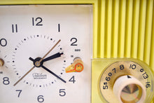 Load image into Gallery viewer, Citron Yellow 1957-58 Motorola Model 5C22Y Vacuum Tube AM Clock Radio Yellow Alert! - [product_type} - Motorola - Retro Radio Farm