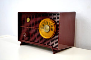 'The Cole' Vintage 1957 Maroon RCA Victor Model 8X51 AM Vacuum Tube Radio - [product_type} - RCA Victor - Retro Radio Farm