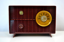 Load image into Gallery viewer, 'The Cole' Vintage 1957 Maroon RCA Victor Model 8X51 AM Vacuum Tube Radio - [product_type} - RCA Victor - Retro Radio Farm