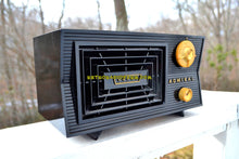 Load image into Gallery viewer, SOLD! - Feb. 15, 2018 - BLUETOOTH MP3 Ready -CAVE ONYX Black Antique Mid Century Vintage 1955 Admiral 5C41N AM Tube Radio Sounds Great! - [product_type} - Admiral - Retro Radio Farm