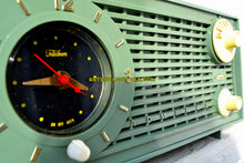 Load image into Gallery viewer, SOLD! - Feb 10, 2018 - BLUETOOTH MP3 UPGRADE ADDED - AVOCADO Vintage 1955 Admiral Y1189 AM Tube Clock Radio Near Mint Condition! - [product_type} - Admiral - Retro Radio Farm