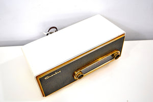 Alpine White 1959 Crosley Ranchero T-60 AM Vacuum Tube Radio Mid Century Perfection! - [product_type} - Crosley - Retro Radio Farm