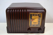 Load image into Gallery viewer, SOLD! - Feb. 2, 2020 - Wondrous Walnut Brown Bakelite 1939 RCA Victor Model 45-X-11 AM Tube Radio Fine Looking Great Sounding! - [product_type} - RCA Victor - Retro Radio Farm