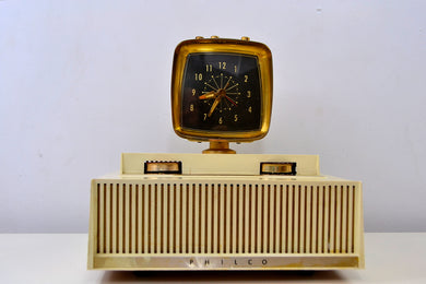 The Future is Here! - 1959 Philco Predicta Model H765-124 Tube AM Clock Radio