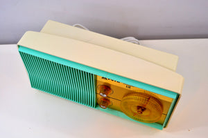 SOLD! - Nov. 1, 2019 - AM FM Turquoise and White Beauty Vintage 1962 Arvin Model 31R26 Tube Radio Amazing! - [product_type} - Arvin - Retro Radio Farm