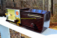 Load image into Gallery viewer, SOLD! - May 14, 2018 - IMMACULATE Espresso Bi-level Retro Jetsons 1957 Motorola 57CD Tube AM Clock Radio Pristine! - [product_type} - Motorola - Retro Radio Farm