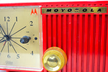Load image into Gallery viewer, Cardinal Red 1956 Motorola 56CS4A Tube AM Clock Retro Radio - [product_type} - Motorola - Retro Radio Farm