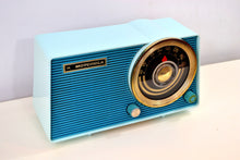 Load image into Gallery viewer, SOLD! - Aug 29, 2019 - Baby Blue on Blue Vintage 1963 Motorola Model A18B49 AM Tube Radio - [product_type} - Motorola - Retro Radio Farm