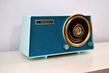 Load image into Gallery viewer, Baby Blue on Blue Vintage 1963 Motorola Model A18B49 AM Tube Radio - [product_type} - Motorola - Retro Radio Farm