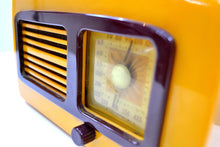 Load image into Gallery viewer, SOLD! - Feb 6, 2020 - Sunflower Yellow Catalin Vintage 1941 Sonora Coronet Model KM Vacuum Tube AM Radio Rare Model! - [product_type} - Sonora - Retro Radio Farm
