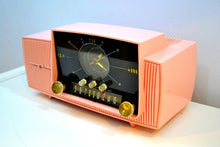 Load image into Gallery viewer, SOLD! - Jan 31, 2020 - Rose Pink 1959 General Electric Model C-4340 Vacuum Tube AM Clock Radio Mid Century Splendor! - [product_type} - General Electric - Retro Radio Farm