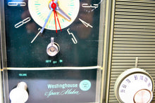 "Load image into Gallery viewer, SOLD! - Feb 13, 2019 - ""The Space Maker"" Olive Green Vintage Westinghouse H-211L5 Retro Radio - [product_type} - Westinghouse - Retro Radio Farm"