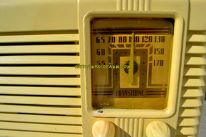 SOLD! - May 14, 2018 - GRECIAN IVORY Post War Deco Retro 1941 Philco Transitone Model PT-28 Tube AM Radio Excellent Plus Condition! - [product_type} - Philco - Retro Radio Farm