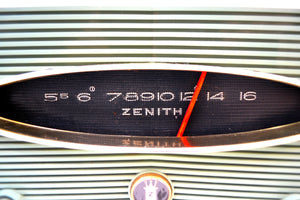 Spruce Green 1956 Zenith A615F AM Vacuum Tube Radio Real Looker Sound Blaster! - [product_type} - Zenith - Retro Radio Farm