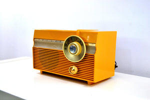 SOLD! - Mar 8, 2019 - Maize Yellow 1959 Philco Model E-812-124 Vintage Tube AM Radio Totally Awesome!! - [product_type} - Philco - Retro Radio Farm