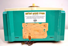 Load image into Gallery viewer, SOLD! - Feb 7, 2020 - Turquoise Twin Speaker Retro Vintage 1959 Philco Model E-816-124 AM Tube Radio Totally Restored! - [product_type} - Philco - Retro Radio Farm