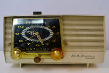 Load image into Gallery viewer, Cream Vintage 1959 RCA Victor C-4E AM Clock Tube Radio - [product_type} - RCA Victor - Retro Radio Farm
