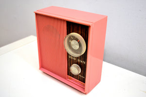 SOLD! - Feb 15, 2020 - Barbie Pink and Wood Grain Retro General Electric AM Solid State Radio Rare! - [product_type} - General Electric - Retro Radio Farm