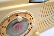 Load image into Gallery viewer, Ivory White Vintage 1948-49 General Electric Model 516 AM Vacuum Tube Radio Solid Player Popular Model! - [product_type} - General Electric - Retro Radio Farm