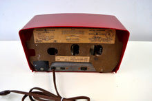 Load image into Gallery viewer, SOLD! - Feb 17, 2019 - Ruby Red Vintage 1954 General Electric Model 556 AM Tube Radio - [product_type} - General Electric - Retro Radio Farm