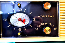 Load image into Gallery viewer, SOLD! - Oct 28, 2019 - Aqua Blue 1959 Admiral Y3048 Tube AM Radio Alarm Clock - [product_type} - Admiral - Retro Radio Farm